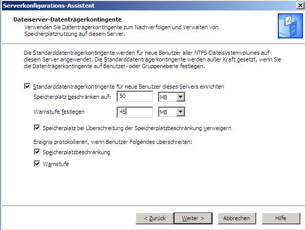 Fileserver installieren