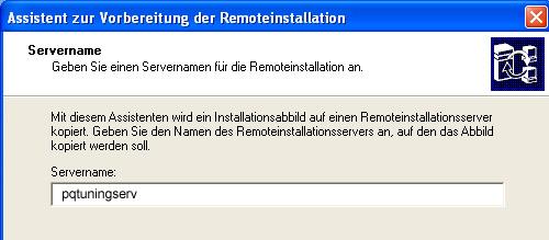 Assistent zur Vorbereitung der Remoteinstallation