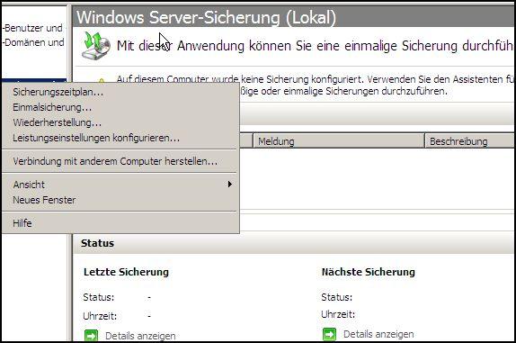 Windows Server-Sicherung