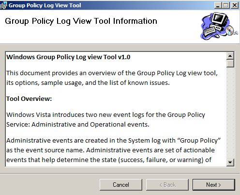 Group Policy Log View Tool
