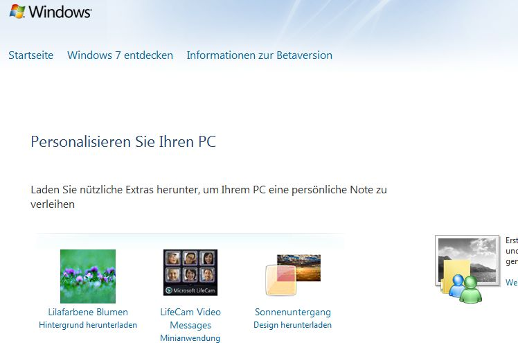Windows personalisieren