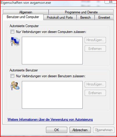 Benutzer und Computer