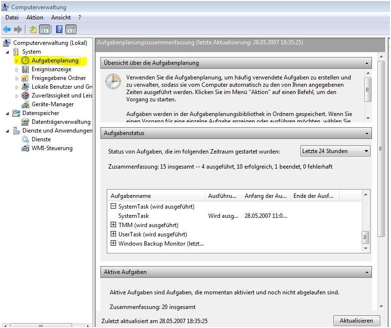 Aufgabenplanung-Computerverwaltung