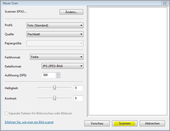 Fax und Scan-Neuer Scan