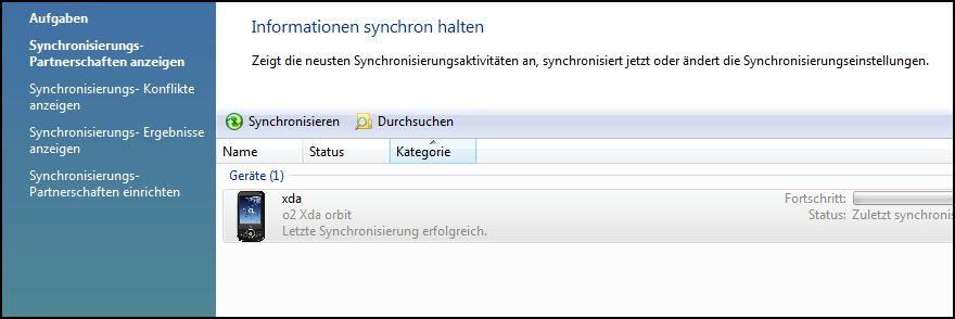 Synchronisierungscenter-Daten