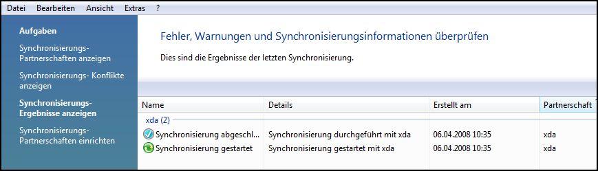 Synchronisierungscenter-Fehler