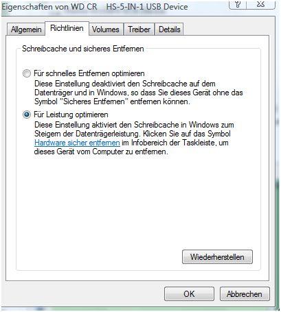HDD für Leistung optimieren