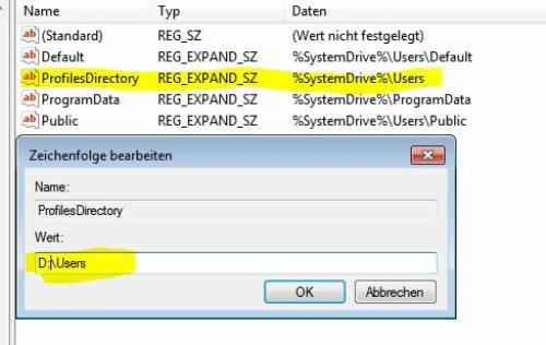 Profilpfad Registry