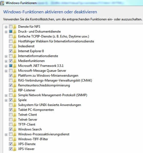 windows funktionen