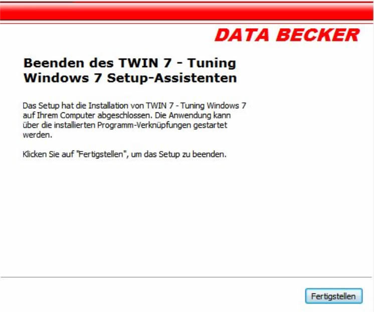 Twin 7 Install Beendet