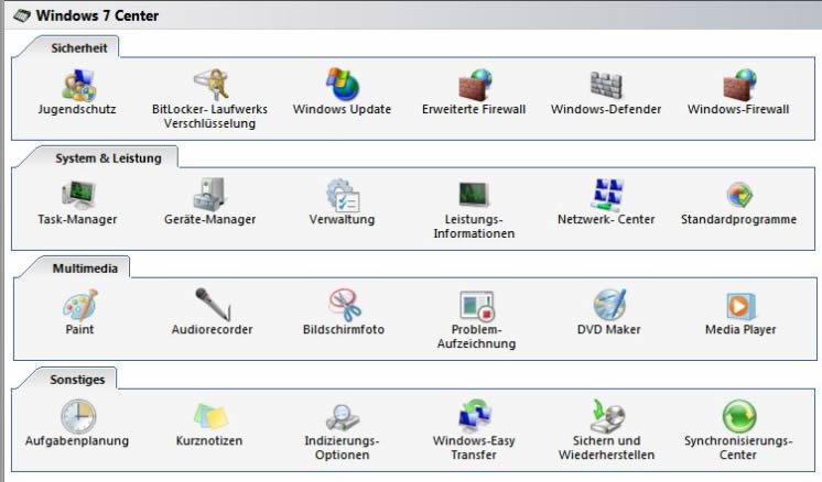 Twin 7 - Windows 7 Center